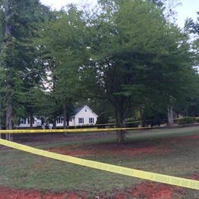 Crime scene tape at East Selwood Lane in Lexington,