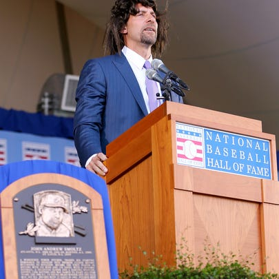 John Smoltz tries to relive his early days with hair