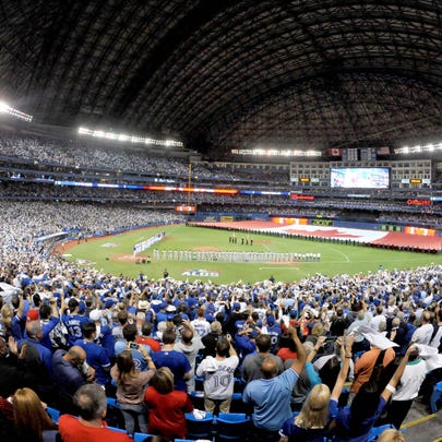 A general view of Rogers Centre before Game 1 of the