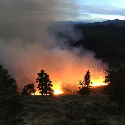 The Beartrap Fire started burning near Red Feather
