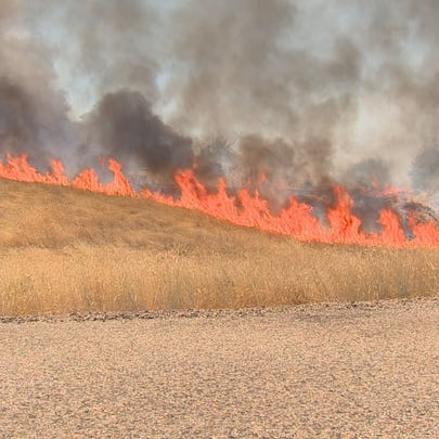 A brush fire in Payette spread quickly Thursday afternoon.