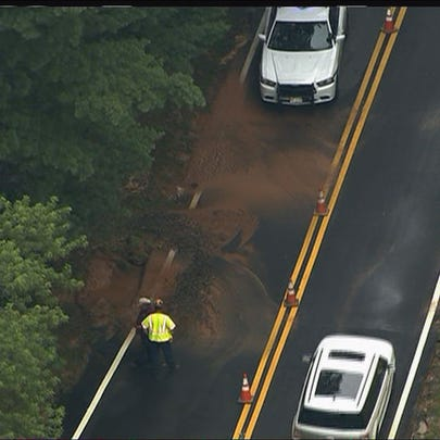Crews respond to a water main break on Good Hope Road