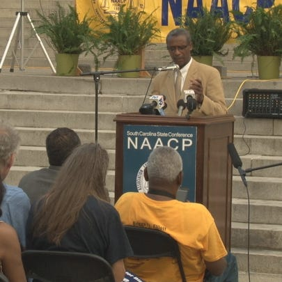 The South Carolina NAACP holds vigil to remember the