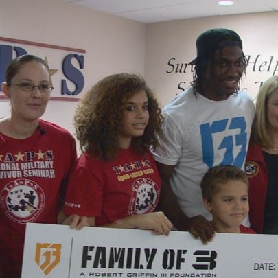 RGIII surprises a military family with a check from