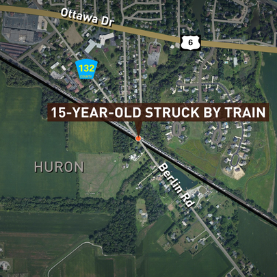July 31, 2015: Location in Huron, Ohio where a 15-year-old