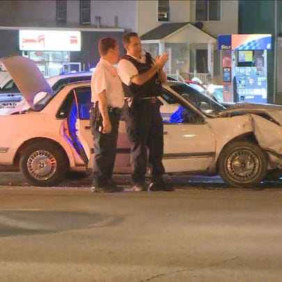 A Buffalo police officer was hurt in a collision that