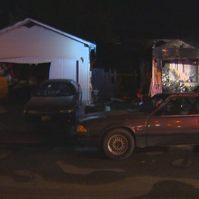 A home is destroyed, another damaged, following a Friday