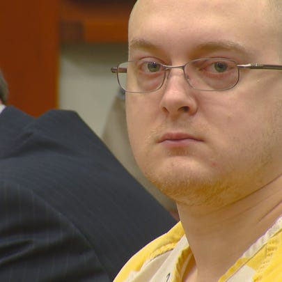 Adam Dees in court.