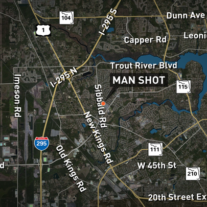 A man suffered a minor wound after being shot while