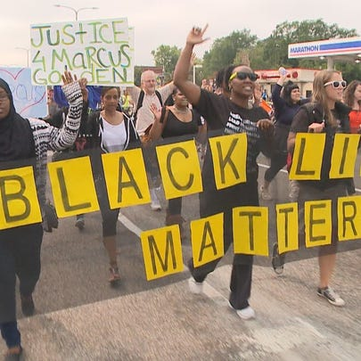 Scene from Saturday's Black Lives Matter march