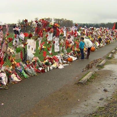 Memorial at Marysville Pilchuck High School.