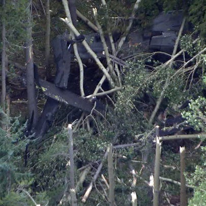 A helicopter went down in Douglas County Wednesday