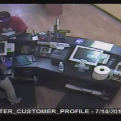 Image of the suspect captured from a surveillance camera.