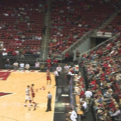 Fans at UofL game