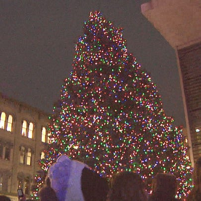 A past year's Christmas tree at the Grand Rapids Art