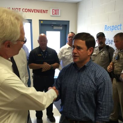 Gov. Doug Ducey toured the damage from several days