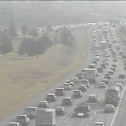 Slow traffic on I-480 EB at Granger Rd in Garfield
