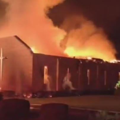 Mt. Zion AME church in Greeleyville, SC on fire.  No