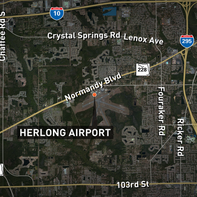 It happened about 10 a.m. at Herlong Airport, located