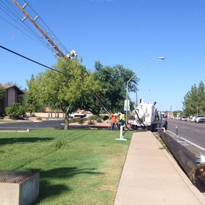 SRP crews are out trying to restore power on August