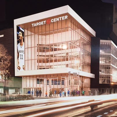 Target Center rendering, project slated for completion