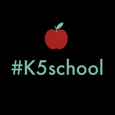 Use #k5school when you post on Instagram, Twitter and
