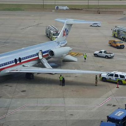 American Airlines Flight 1658 was evacuated due to