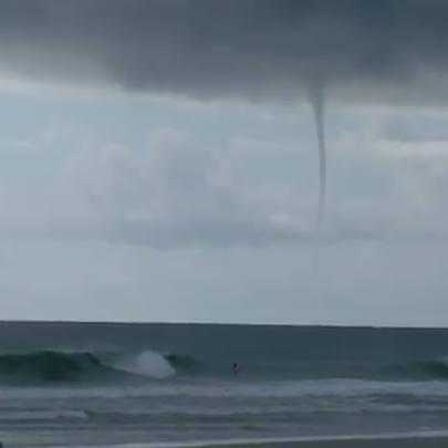 A water spout over the Atlantic Ocean near Jacksonville