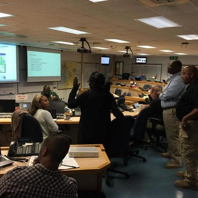 Tampa EOC partially activated overnight on Sunday.