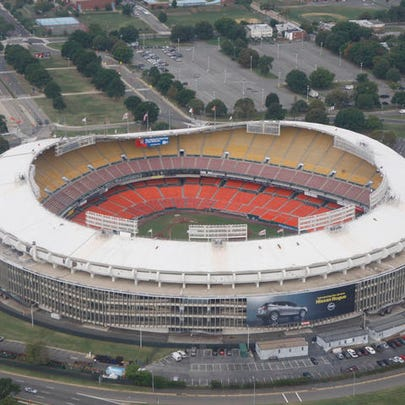 Aerial view of RFK Stadium, home of the Washington
