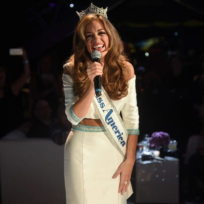 Betty Cantrell after she was named Miss America.