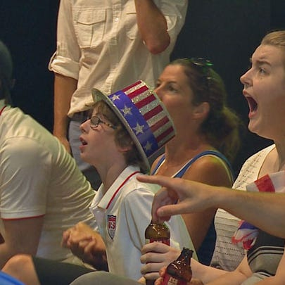 The Seattle Reign hosted a watch party in Pioneer Square,