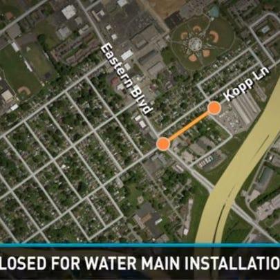 Kopp Lane closed for water main installation