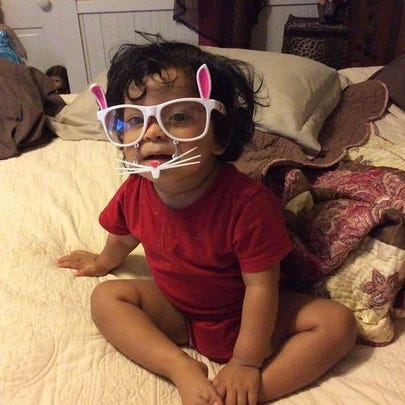 A 2-year-old girl who police say was beaten by her