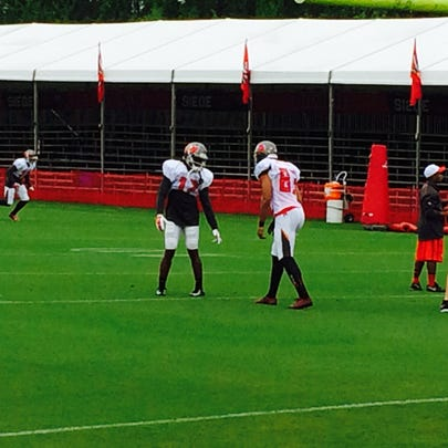 The Bucs may have closed Monday's practice to fans,