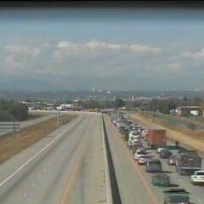 Long backups were reported on Interstate 270 in Commerce