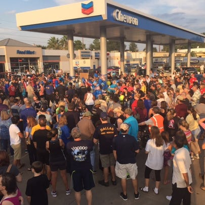 Hundreds gathered at the memorial for the deputy shot