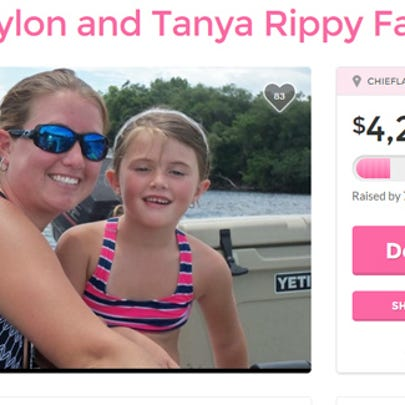 Jayln Rippy died in the accident, and her mother, Tanya