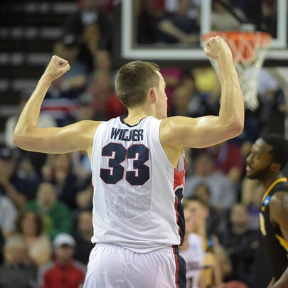Mar 22, 2015; Seattle, WA, USA; Gonzaga Bulldogs forward