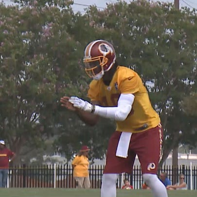 RGIII at Redskins training camp
