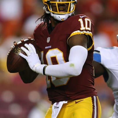 Robert Griffin III was at practice Wednesday after