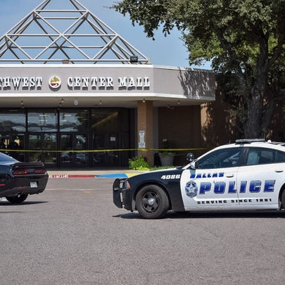 An entrance of Southwest Center Mall is closed after