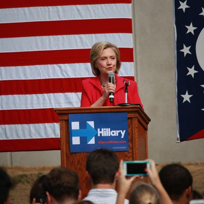 Hillary Clinton speaks at Case Western Reserve University.