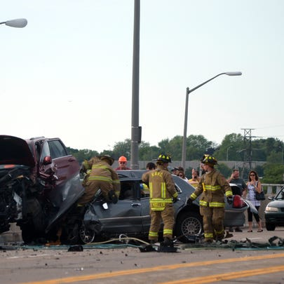 Car accident on Lewiston Road
