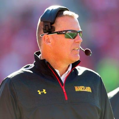 Maryland Terrapins head coach Randy Edsall during the