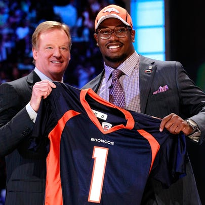 NEW YORK, NY - APRIL 28:  Von Miller, #2 overall pick