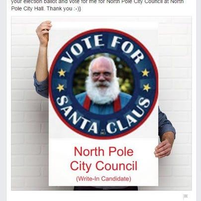 Santa Claus's Facebook post