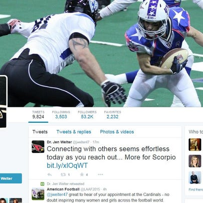 Dr Jen Welter's twitter feed is showing the support