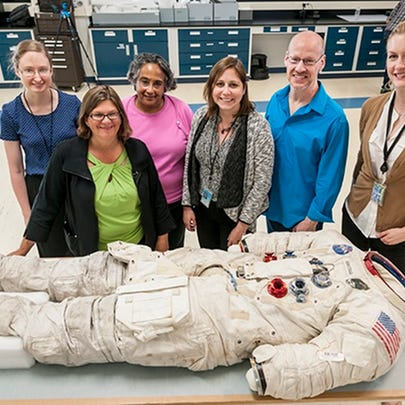 Some of the Smithsonian project team with Armstrong's