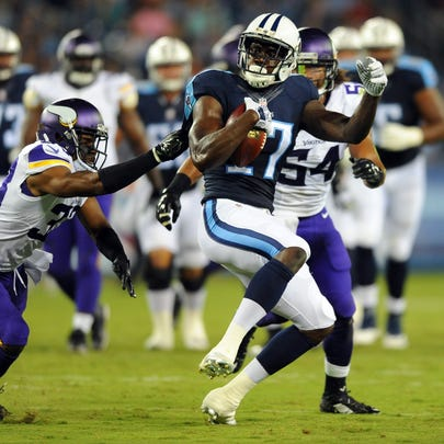 Sep 3, 2015; Nashville, TN, USA; Tennessee Titans receiver